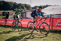 Sophie De Boer (NED/Breepark) &amp; eventual race winner Marianne Vos (NED/Waow Deals)<br /> <br /> Elite Women's Race<br /> GP Mario De Clercq / Hotond cross 2018 (Ronse, BEL)