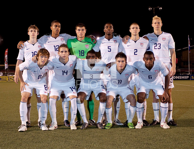 US Under 20 Men's National Team Starting Evelen. Costa Rica defeated the US Under 20 Men's National team 3-0 during the 2009 CONCACAF U-20 Championship game at Marvin Lee Stadium Trinidad & Tobago in Macoya, Trinidad on March 17th, 2009.