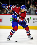 4 December 2008: Montreal Canadiens' center Maxim Lapierre warms up prior to facing the New York Rangers for their first meeting of the season at the Bell Centre in Montreal, Quebec, Canada. The Canadiens, celebrating their 100th season, played in the circa 1915-1916 uniforms for the evenings' Original Six matchup. *****Editorial Use Only*****..Mandatory Photo Credit: Ed Wolfstein Photo