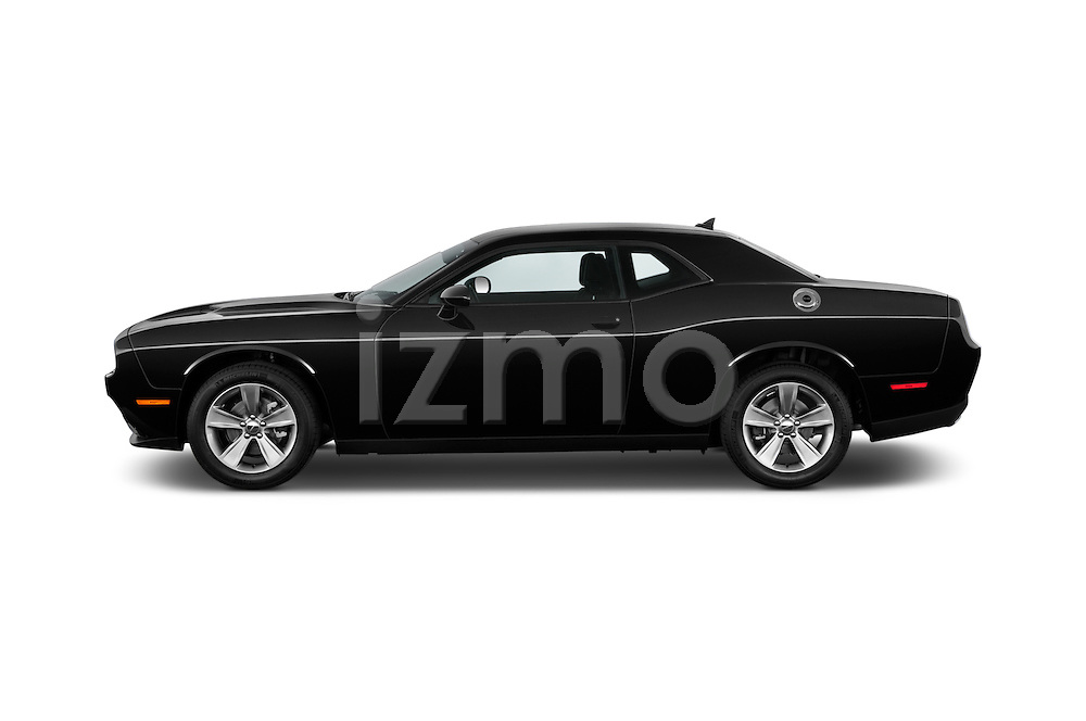 Car Driver side profile view of a 2018 Dodge Challenger SXT 2 Door Coupe Side View