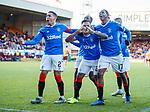 15.12.2019 Motherwell v Rangers: Alfredo Morelos celebrates his goal