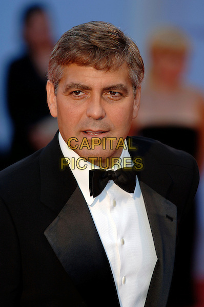 "GEORGE CLOONEY.62nd International Film Festival,.At the premiere of ""Good Night, And Good Luck"".Venice, 1st September 2005.portrait headshot La Bienale black tie tuxedo .Ref: PL.www.capitalpictures.com.sales@capitalpictures.com.©Capital Pictures."