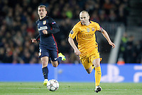 FC Barcelona's Andres Iniesta (r) and  Atletico de Madrid's  Antoine Griezmann during Champions League 2015/2016 match. April 5,2016. (ALTERPHOTOS/Acero) <br /> Barcellona 05-04-2016 <br /> Football Calcio 2015/2016 Champions League <br /> Barcellona - Atletico Madrid Quarti di finale<br /> Foto Alterphotos / Insidefoto <br /> ITALY ONLY