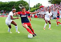 Boyds, MD - Saturday July 02, 2016: Katie Stengel, Brianne Reed during a regular season National Women's Soccer League (NWSL) match between the Washington Spirit and FC Kansas City at Maureen Hendricks Field, Maryland SoccerPlex.
