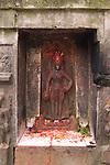 A statue of a Hindu Goddess in Kathmandu Nepal