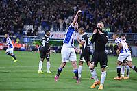 VOETBAL: HEERENVEEN: Abe Lenstra Stadion, 11-04-2015, Eredivisie, sc Heerenveen - AZ Alkmaar, vreugde bij invaller Henk Veerman (#20), Eindstand: 5-2, ©foto Martin de Jong