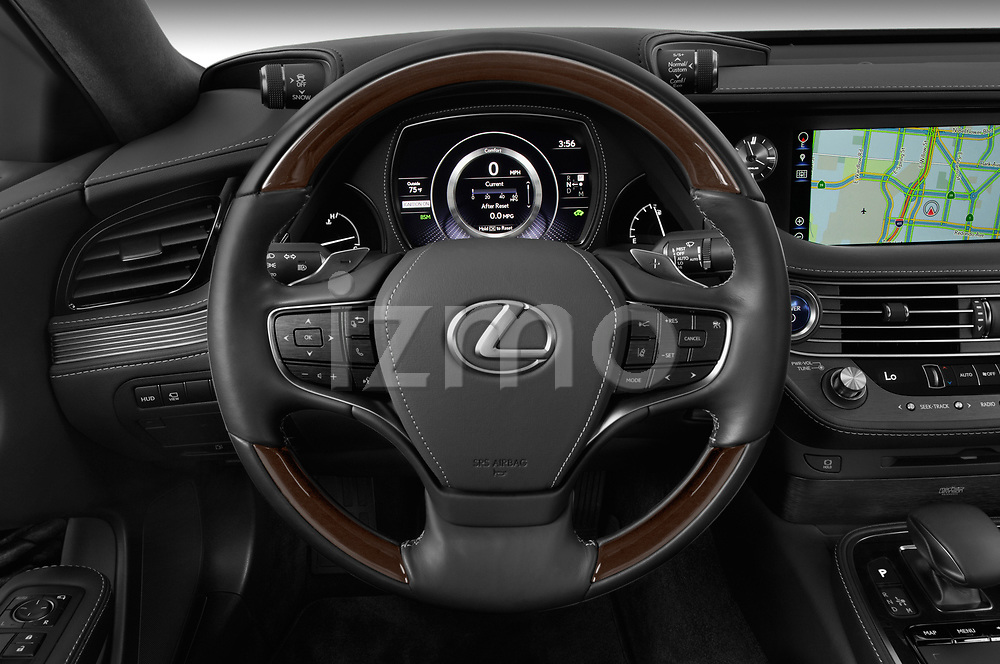 Car pictures of steering wheel view of a 2019 Lexus LS  Executive 4 Door Sedan