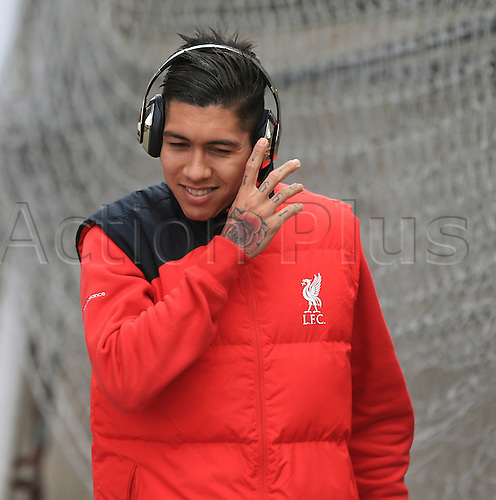 06.03.2016. Selhurst Park, London, England. Barclays Premier League. Crystal Palace versus Liverpool. Roberto Firmino of Liverpool arrives at the ground before the game.