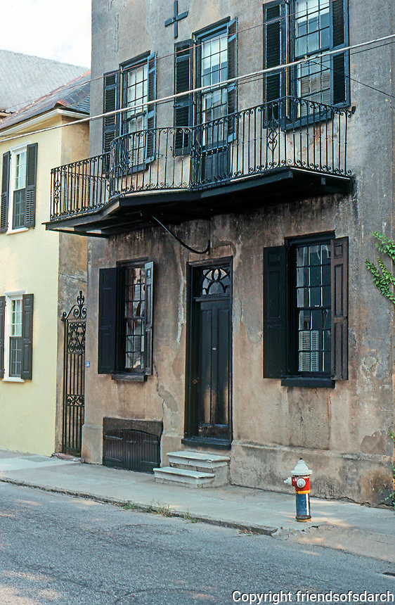 Charleston: Mid-18th Century House, Tradd St.  Photo '78.