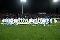 The Pumas line up for the Rugby Championship match between the New Zealand All Blacks and Argentina Pumas at Trafalgar Park in Nelson, New Zealand on Saturday, 8 September 2018. Photo: Dave Lintott / lintottphoto.co.nz