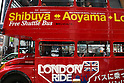 May 5, 2010 - Tokyo, Japan - People ride on the top deck of a Routemaster bus in Tokyo, Japan on May 5, 2010. The double-decker legend is used during the public holidays called 'Golden Week' as free shuttle between Shibuya and Aoyama for the promotion of the British luxury brand group Vulcanize London.