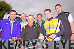 Mike Collins and Pat Donovan from Newcastle West with Mike Enright, Timmy Hartnett, Patrick Hartnett and John Murphy from Monegea get ready for the  charity cycle in Athea last Monday in aid of the Brothers of Charity Listowel and Newcastle West.