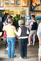 Customers pack in for lunch at Merritt's Store and Grill in Chapel Hill, NC.