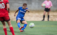 Seattle, WA - Saturday Aug. 27, 2016: Nahomi Kawasumi during a regular season National Women's Soccer League (NWSL) match between the Seattle Reign FC and the Portland Thorns FC at Memorial Stadium.