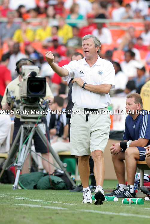 9 July 2005: Wizards head coach Bob Gansler. The Kansas City Wizards defeated DC United 1-0 at RFK Stadium in Washington, DC in a regular season Major League Soccer game. .