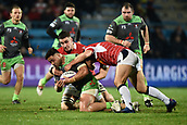 January 12th 2018, Stade Armandie , Agen, France;  European Rugby Challenge Cup, SU Agen Lot-et-Garrone;  Motu Matu U (glo) is stopped with a gang tackle