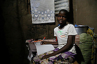 Joyce, aged 12, a Tanzanian schoolgirl who is now able to study at home at night, thanks to a solar lighting scheme backed by UK aid.<br /> <br /> Picture: Russell Watkins/Department for International Development.