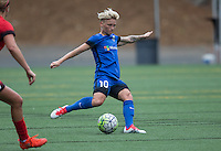Seattle, WA - Saturday Aug. 27, 2016: Jessica Fishlock during a regular season National Women's Soccer League (NWSL) match between the Seattle Reign FC and the Portland Thorns FC at Memorial Stadium.
