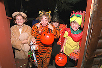 Halloween trick & treaters age 9  looking for the candy!  St Paul Minnesota USA
