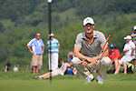 Chris Wood on the 13th green on day two of the Celtic Manor wales Open 2010.Picture Fran Caffrey/Newsfile.ie