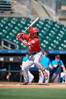 Washington Nationals Cody Wilson (22) at bat during an Instructional League game against the Miami Marlins on September 25, 2019 at Roger Dean Chevrolet Stadium in Jupiter, Florida.  (Mike Janes/Four Seam Images)