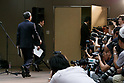 Toshiba Corp. President Satoshi Tsunakawa leaves a news conference at the company headquarters on August 10, 2017, Tokyo, Japan. Tsunakawa reported approximate 965.7 billion yen ($8.8 billion) loss for its Fiscal Year 2016 to March 31, 2017. Toshiba avoided being delisted from Tokyo Stock Exchange by announcing its delayed financial results. (Photo by Rodrigo Reyes Marin/AFLO)