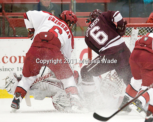 Ryan Grimshaw (Harvard - 6), Steve Michalek (Harvard - 34), Spiro Goulakos (Colgate - 6) - The Harvard University Crimson defeated the visiting Colgate University Raiders 4-2 on Saturday, November 12, 2011, at Bright Hockey Center in Cambridge, Massachusetts.