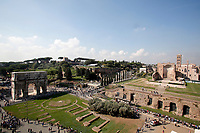 Panorama<br /> Roma 03/10/2017. Apertura del IV e V livello del Colosseo<br /> Rome October 3rd 2017. Opening of the IV and V levels of Colosseum.<br /> Foto Samantha Zucchi Insidefoto