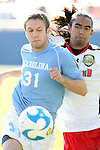 14 December 2008: UNC's Brian Shriver (31) and Maryland's A.J. Delagarza (right). The University of Maryland Terrapins defeated the University of North Carolina Tar Heels 1-0 at Pizza Hut Park in Frisco, TX in the championship game of the 2008 NCAA Division I Men's College Cup.
