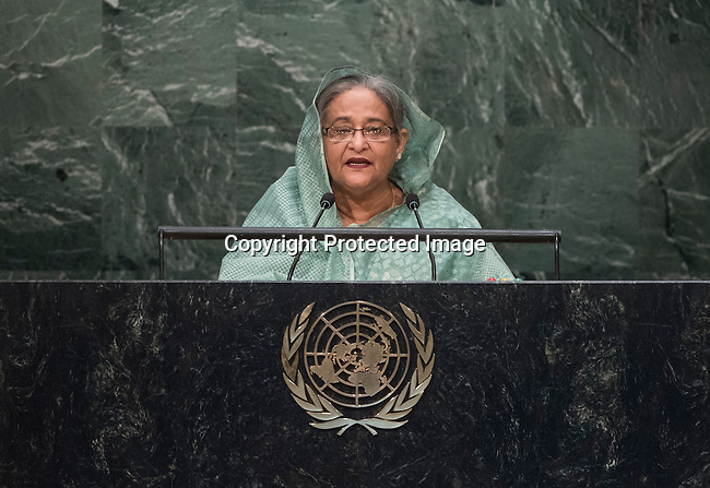 . Her Excellency Sheikh Hasina, Prime Minister of the People&rsquo;s Republic of Bangladesh  <br /> General Assembly Seventieth session 9th plenary meeting: High-level plenary meeting of the (6th meeting)
