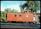 Cumbres &amp; Toltec caboose #0503 in Chama.<br /> C&amp;TS  Chama, NM