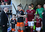 Sheffield United's Paul Coutts leads out his side during the League One match at the Sixfields Stadium, Northampton. Picture date: April 8th, 2017. Pic David Klein/Sportimage