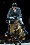 Kevin Staut of France riding Quismy des Vaux HDC in action during the Gucci Gold Cup as part of the Longines Hong Kong Masters on 14 February 2015, at the Asia World Expo, outskirts Hong Kong, China. Photo by Johanna Frank / Power Sport Images