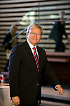 Australian Prime Minister Kevin Rudd arrives for talks with his Japanese counterpart Yukio Hatoyama at the Japanese prime minister's offices in Tokyo, Japan on Tuesday Dec. 15 2009..Photographer: Robert Gilhooly.