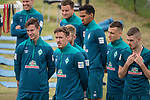 04.01.2019, Trainingsgelaende Randburg Football Club, Johannesburg, RSA, TL Werder Bremen Johannesburg Tag 02<br /> <br /> im Bild / picture shows <br /> <br /> Kraftsport am Morgen vor dem Training in Sueddafrika <br /> Marco Friedl (Werder Bremen #32)<br /> Max Kruse (Werder Bremen #10)<br /> Theodor Gebre Selassie (Werder Bremen #23)<br /> Philipp Bargfrede (Werder Bremen #44)<br /> Maximilian Eggestein (Werder Bremen #35)<br /> Niklas Moisander (Werder Bremen #18)<br /> <br /> Foto © nordphoto / Kokenge