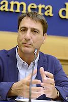 Roma, 5 Agosto 2015<br /> Claudio Fava.<br /> Camera dei Deputati.<br /> La commissione antimafia presenta alla stampa la relazione sui giornalisti minacciati
