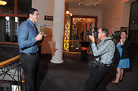 Dominion Post photographer Ross Giblin photographs player of the year Jeffrey Toomaga-Allen at the Wellington Rugby Union Tui Awards at the Embassy Theatre, Wellington, New Zealand on Tuesday, 30 October 2012. Photo: Dave Lintott / lintottphoto.co.nz