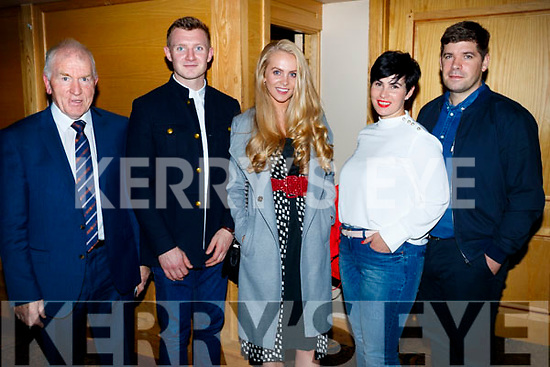 Jimmy Deenihan, Joe Canning, Mary Catherine Walsh, Tina Fitzmaurice and Eamonn Fitzmaurice, pictured at the Dunnes Stores and Paul Galvin Shelby Autumn Winter Fashion Show, held at the Brandon Hotel, Tralee on Friday night last.