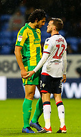 Tempers fray between Bolton Wanderers' Craig Noone and West Bromwich Albion's Ahmed Hegazy<br /> <br /> Photographer Alex Dodd/CameraSport<br /> <br /> The EFL Sky Bet Championship - Bolton Wanderers v West Bromwich Albion - Monday 21st January 2019 - University of Bolton Stadium - Bolton<br /> <br /> World Copyright © 2019 CameraSport. All rights reserved. 43 Linden Ave. Countesthorpe. Leicester. England. LE8 5PG - Tel: +44 (0) 116 277 4147 - admin@camerasport.com - www.camerasport.com
