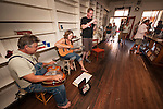 Fifth Amador City Summer Social, Main St. (Historic 49), Amador City, Calif. featuring Amador County wines, local musicians, art, food...Musicians jam during the evening