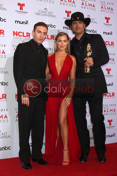 Daryl Sabara, Alexa Vega, Robert Rodriguez<br /> at the 2013 NCLR ALMA Awards Press Room, Pasadena Civic Auditorium, Pasadena, CA 09-27-13<br /> David Edwards/Dailyceleb.com 818-249-4998