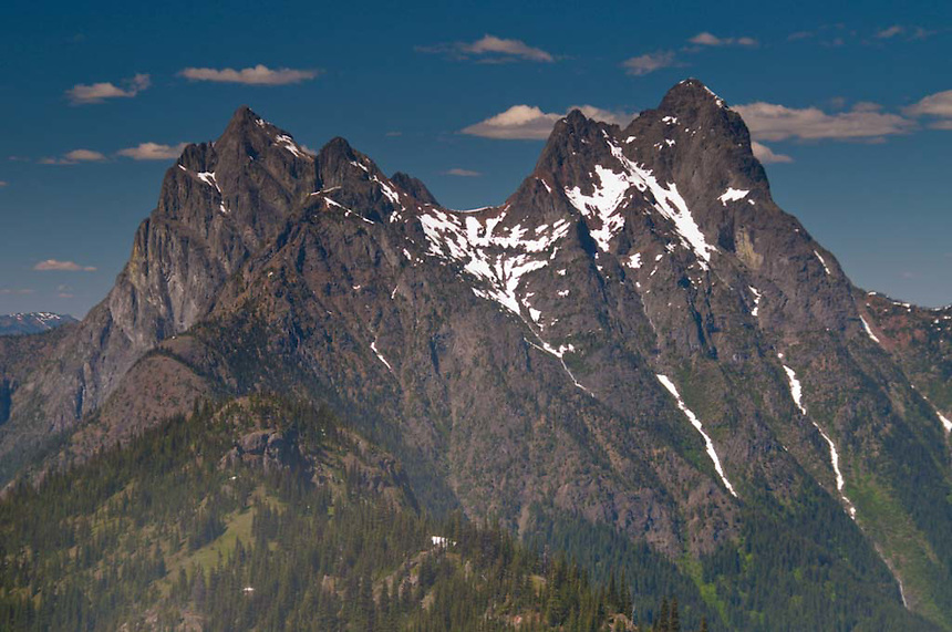 Hozomeen Mountain from Desolation Peak, North Cascades National Park, Washington, US