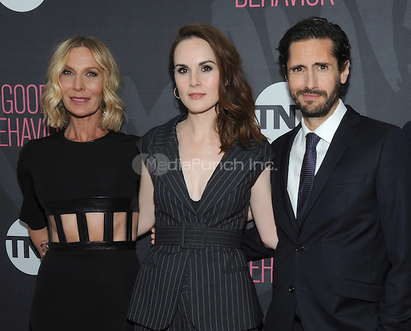 NEW YORK, NY - NOVEMBER 14:  Actors  Lusia Strus, Michelle Dockery and  Juan Diego Botto attends the TNT  'Good Behavior' NYC Premiere at Roxy Hotel on November 14, 2016 in New York City. Photo by John Palmer MediaPunch