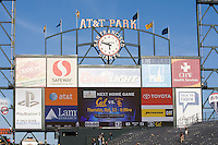 September 17, 2011:  Final score of California vs Presbyterian Football at AT&T Park, San Francisco, Ca  California Defeated Presbyterian 63 - 12