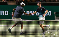 Rotterdam, The Netherlands, 14 Februari 2019, ABNAMRO World Tennis Tournament, Ahoy, quarter finals, doubles, Robin Haase (NED) / Matwe Middelkoop (NED) vs Rajeev Ram (USA) / Joe Salisbury (GBR), <br /> Photo: www.tennisimages.com/Henk Koster