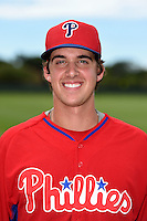 Philadelphia Phillies pitcher Aaron Nola poses for a photo after an Instructional League game against the New York Yankees on September 23, 2014 at the Bright House Field in Clearwater, Florida.  (Mike Janes/Four Seam Images)