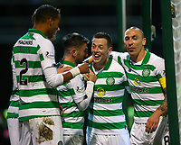 5th February 2020; Fir Park, Motherwell, North Lanarkshire, Scotland; Scottish Premiership Football, Motherwell versus Celtic; Callum McGregor of Celtic celebrates after he makes it 3-0 in the 75th minute