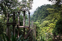 The sculpture gardens of Xilitla, the village where Edward James built his surrealest sculptures in the jungle. San Luis Potosi, Mexico