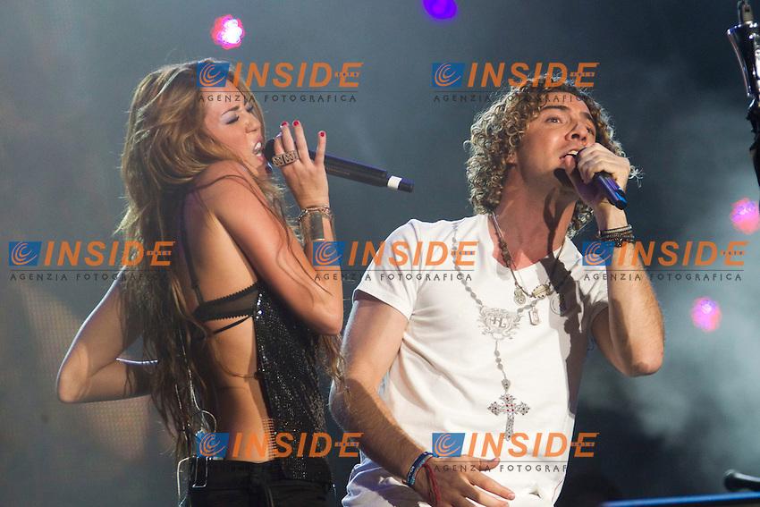 MADRID (06/06/2010).- Miley Cyrus performs during concert at Rock in Rio in Madrid. ..Photo: Cesar Cebolla / ALFAQUI / Insidefoto
