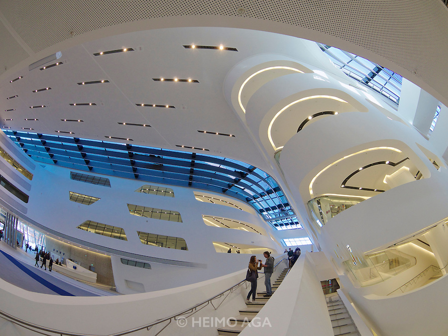 Vienna, Austria. The new WU Campus (University of Economics).<br /> LC (Learning Center) by Zaha Hadid Architects, Hamburg.